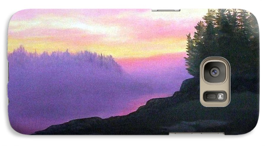 Sunset Galaxy S7 Case featuring the painting Mystical Sunset by Sharon E Allen