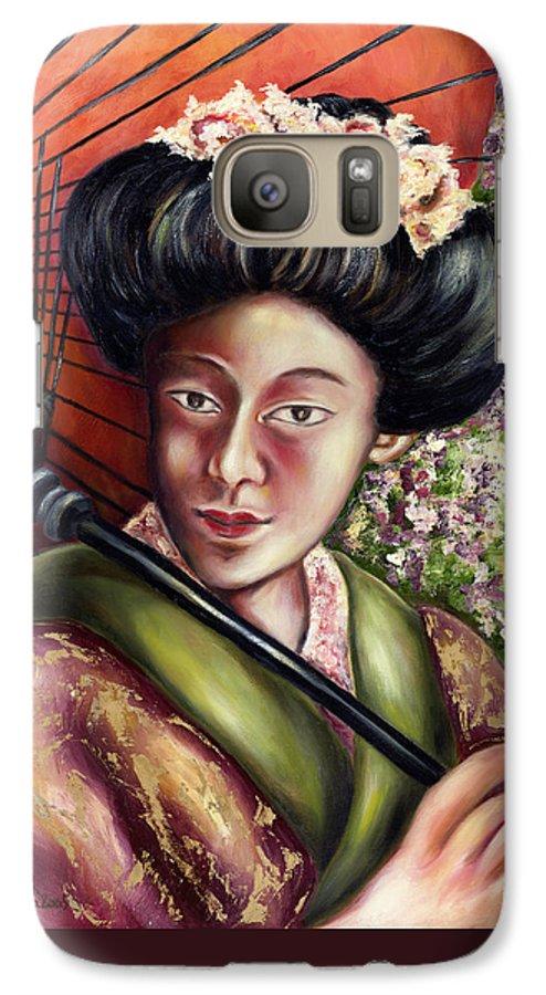 Japanese Galaxy S7 Case featuring the painting Nadeshiko by Hiroko Sakai