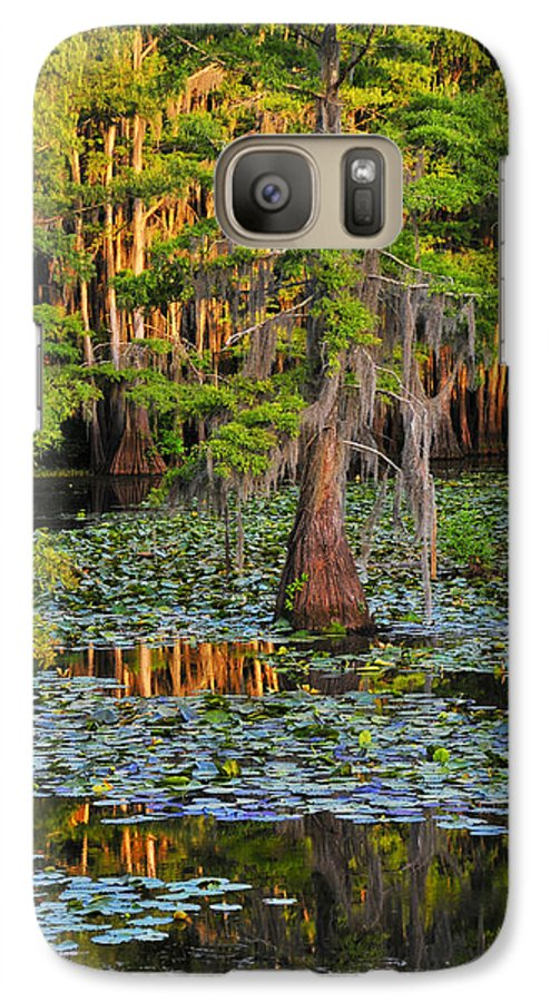 Bog Galaxy S7 Case featuring the photograph Naked by Skip Hunt