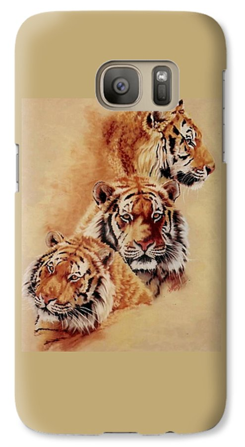 Tiger Galaxy S7 Case featuring the pastel Nanook by Barbara Keith