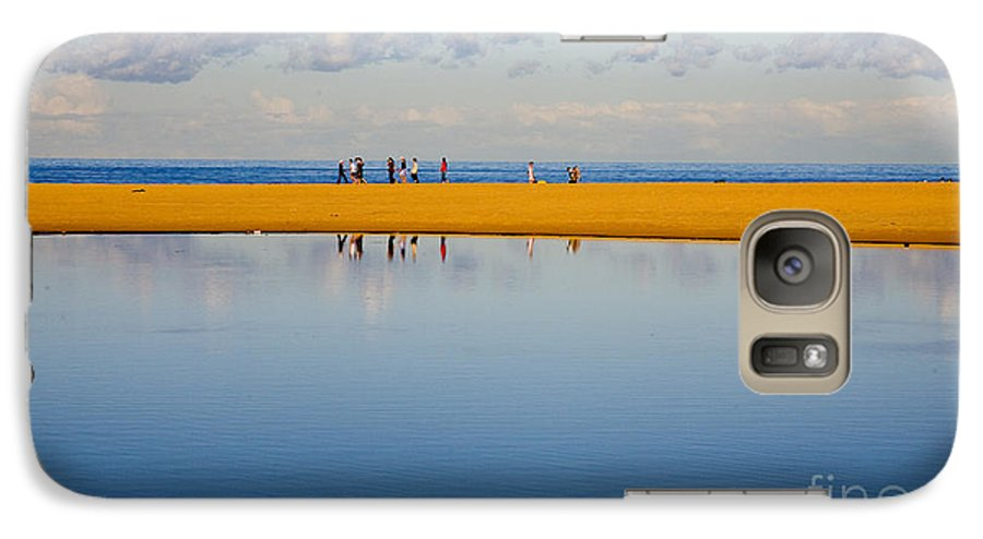 Dunes Lowry Sand Sky Reflection Sun Lifestyle Narrabeen Australia Galaxy S7 Case featuring the photograph Narrabeen Dunes by Sheila Smart Fine Art Photography