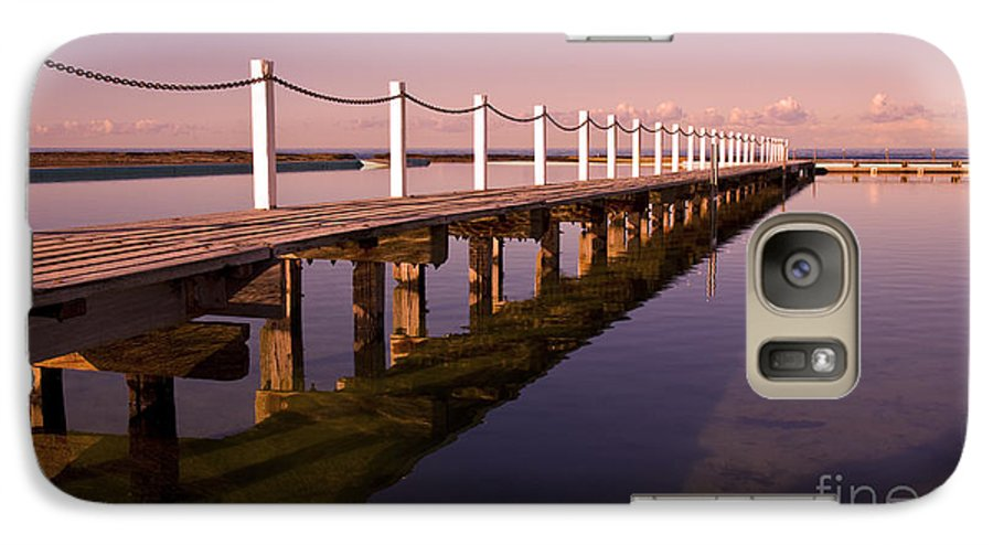 Narrabeen Sydney Sunrise Wharf Walkway Galaxy S7 Case featuring the photograph Narrabeen Sunrise by Sheila Smart Fine Art Photography