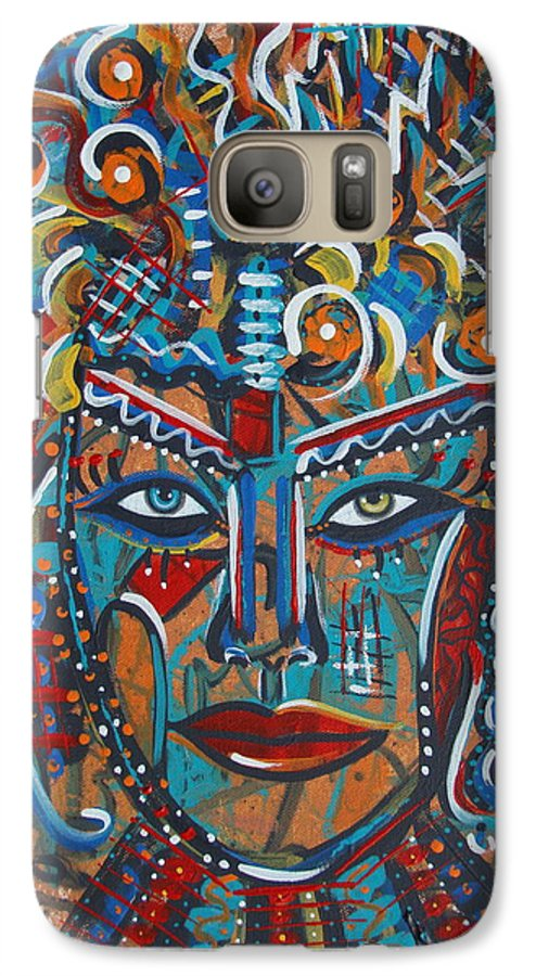 Abstract Galaxy S7 Case featuring the painting Nataliana by Natalie Holland