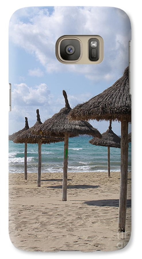 Beach Galaxy S7 Case featuring the photograph Natural Umbrella by Chad Natti