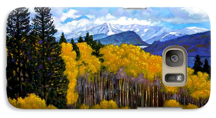 Fall Galaxy S7 Case featuring the painting Natures Patterns - Rocky Mountains by John Lautermilch