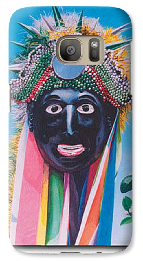 Michael Earney Galaxy S7 Case featuring the painting Negrito Y Flor De Limon by Michael Earney