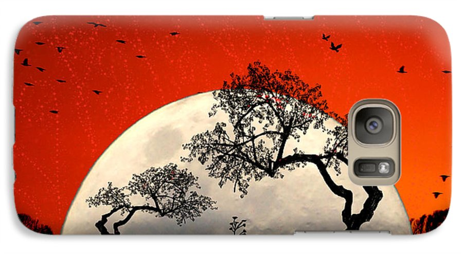Moon Galaxy S7 Case featuring the digital art New Growth New Hope by Holly Kempe
