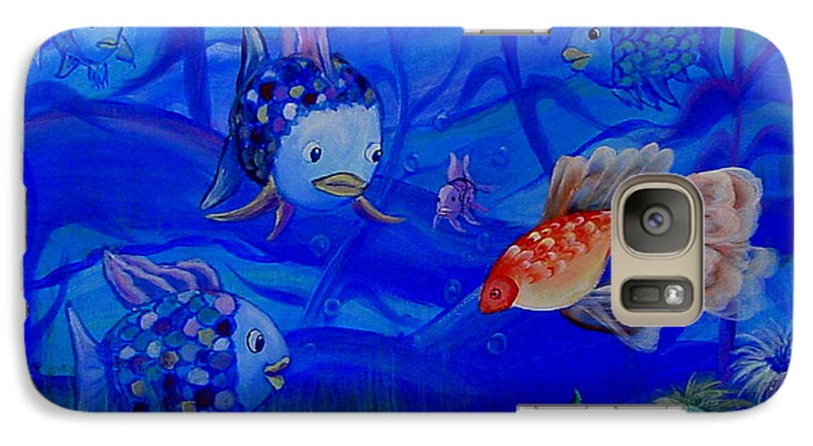 Fish Galaxy S7 Case featuring the painting New Kid In Town by Quwatha Valentine