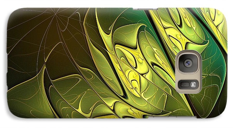 Digital Art Galaxy S7 Case featuring the digital art New Leaves by Amanda Moore
