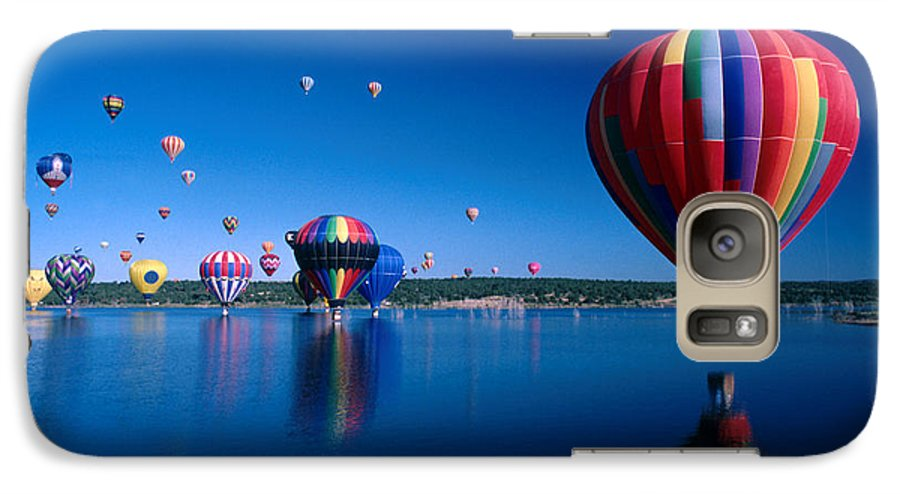 Hot Air Balloon Galaxy S7 Case featuring the photograph New Mexico Hot Air Balloons by Jerry McElroy