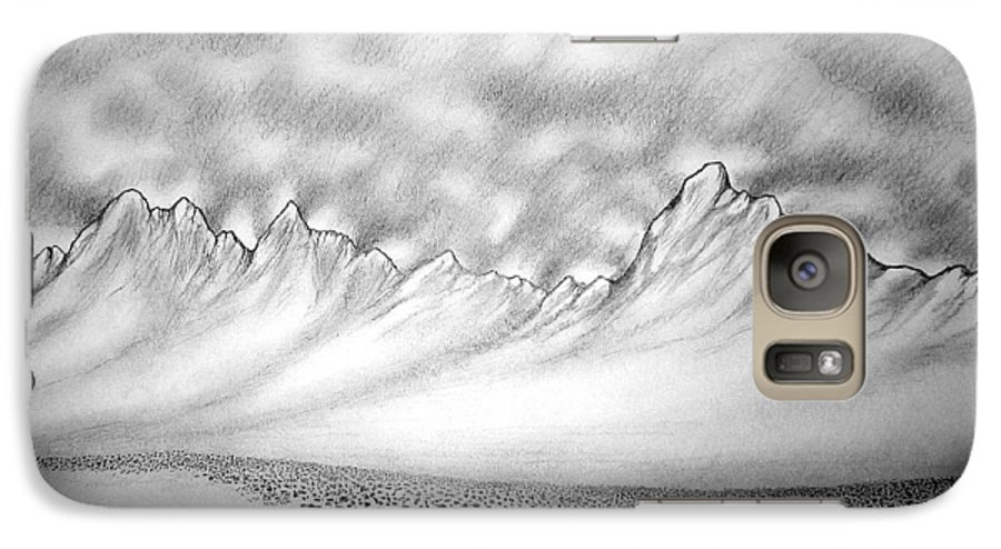 Galaxy S7 Case featuring the drawing New Mexico Passage by Marco Morales