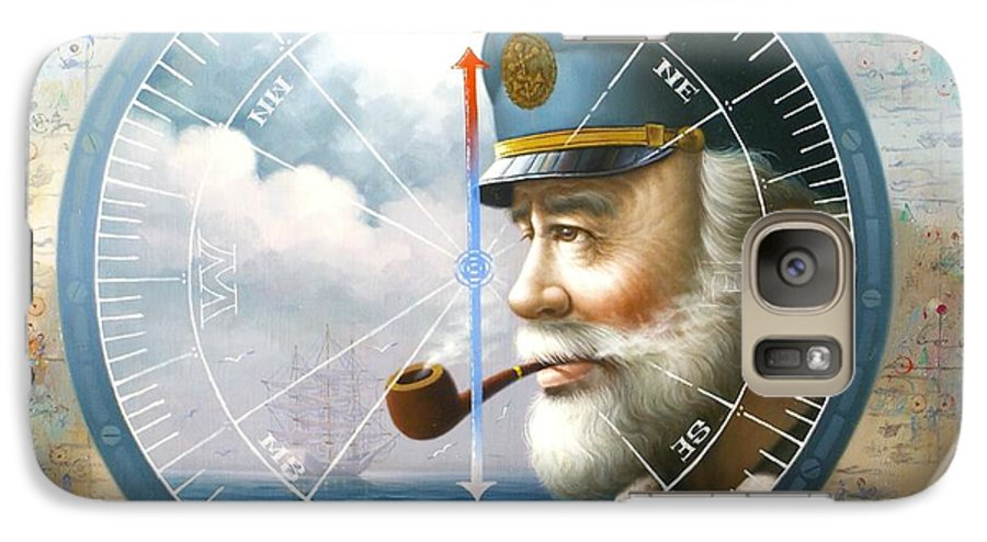 Sea Captain Galaxy S7 Case featuring the painting News Map Captain Or Sea Captain by Yoo Choong Yeul