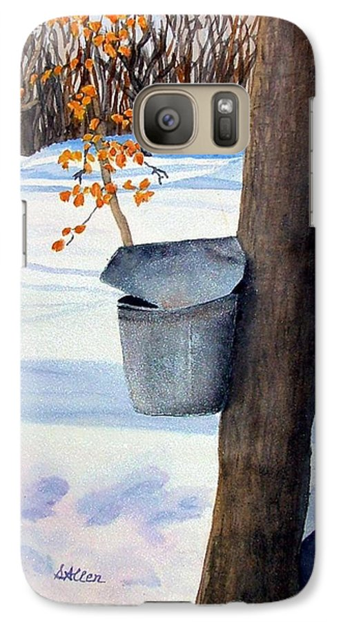 Sap Bucket. Maple Sugaring Galaxy S7 Case featuring the painting Nh Goldmine by Sharon E Allen