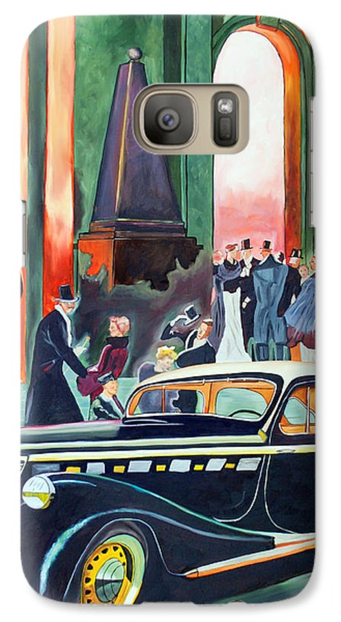 Car Galaxy S7 Case featuring the painting Night At The Theater by Margaret Fortunato
