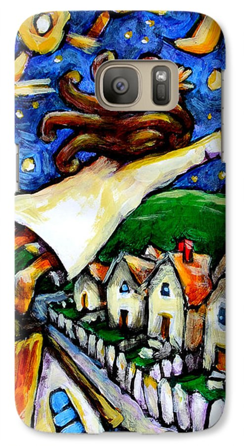 Children Galaxy S7 Case featuring the painting Night Fall by Chad Elliott