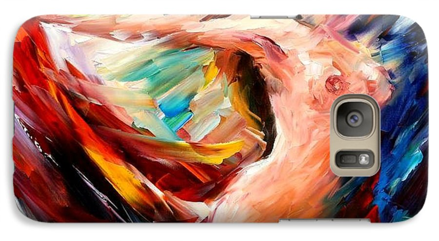Nude Galaxy S7 Case featuring the painting Night Flight by Leonid Afremov