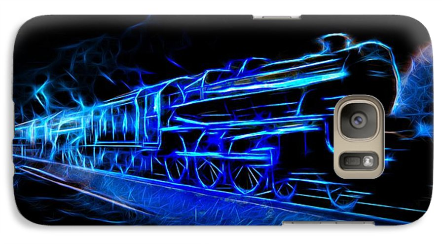 Steam Train Galaxy S7 Case featuring the photograph Night Train To Romance by Aaron Berg