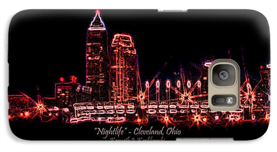 Cleveland Galaxy S7 Case featuring the photograph Nightlife by Kenneth Krolikowski