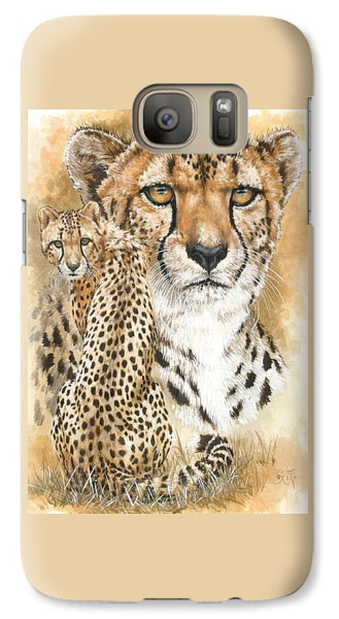 Cheetah Galaxy S7 Case featuring the mixed media Nimble by Barbara Keith