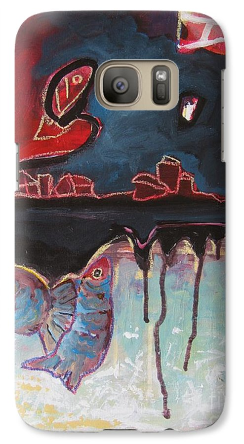 Abstract Paintings Galaxy S7 Case featuring the painting Nipper by Seon-Jeong Kim