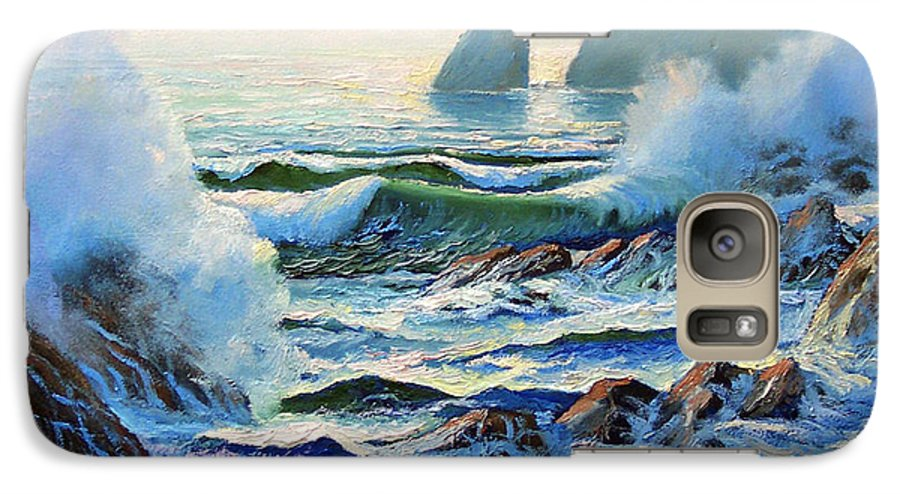 Seascape Galaxy S7 Case featuring the painting North Coast Surf by Frank Wilson