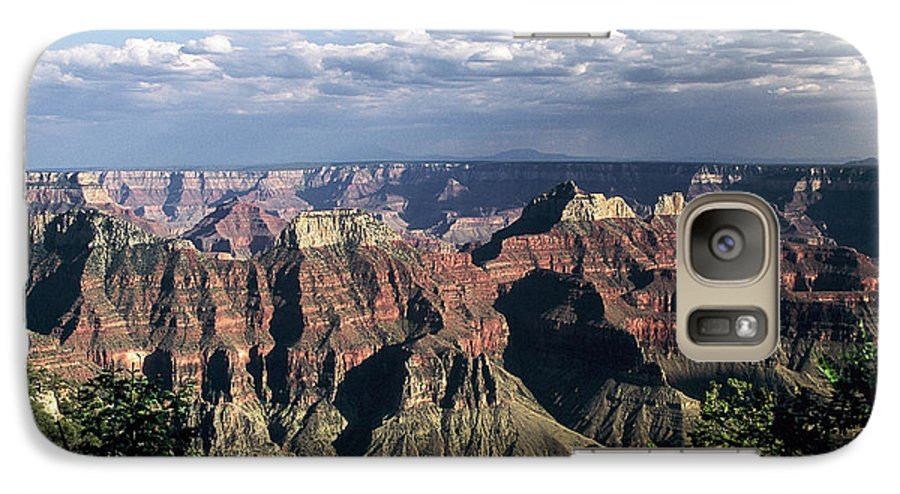 Grand Canyon; National Parks Galaxy S7 Case featuring the photograph North Rim by Kathy McClure