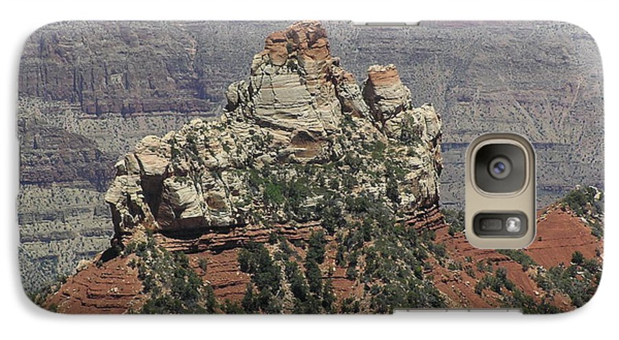 Rock Galaxy S7 Case featuring the photograph North Rim Rock by Louise Magno
