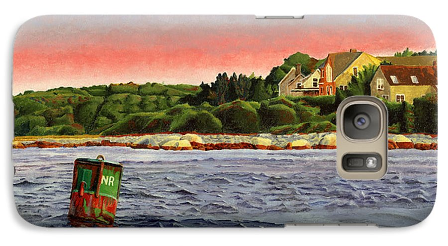 River Galaxy S7 Case featuring the painting North River At Sunset by Dominic White