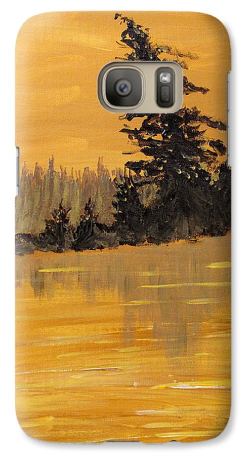 Northern Ontario Galaxy S7 Case featuring the painting Northern Ontario Three by Ian MacDonald