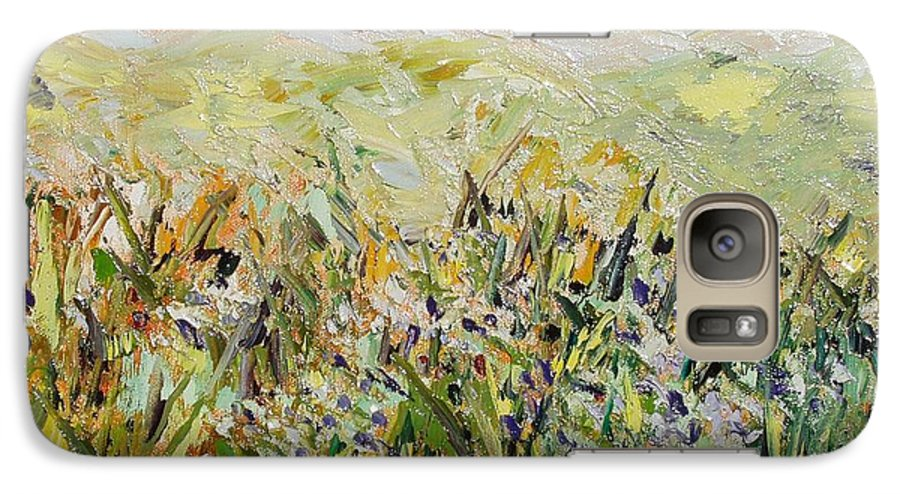 Field Paintings Galaxy S7 Case featuring the painting Nose Hill by Seon-Jeong Kim