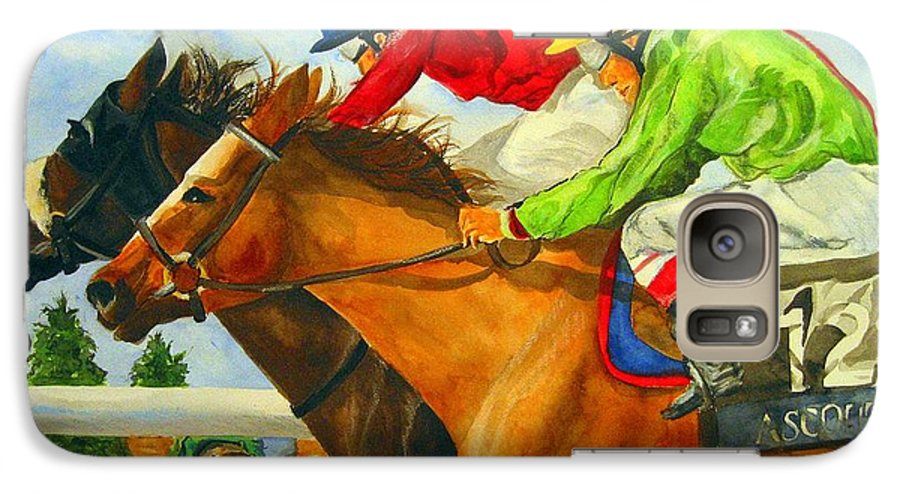 Horse Galaxy S7 Case featuring the painting Nose To Nose by Jean Blackmer