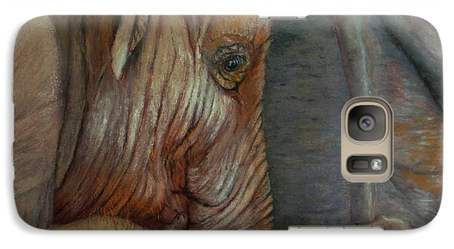 Africa Galaxy S7 Case featuring the painting Now You Hold On Tight by Ceci Watson