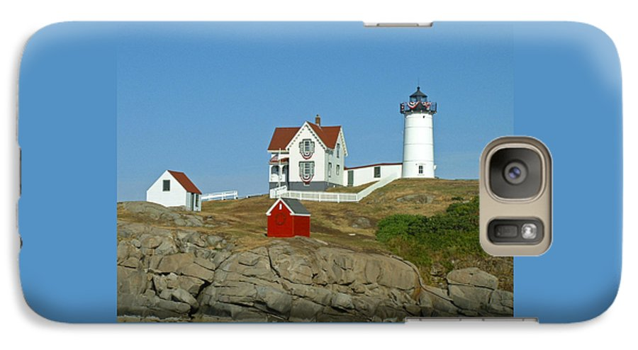 Nubble Galaxy S7 Case featuring the photograph Nubble Light by Margie Wildblood