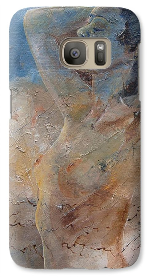 Nude Galaxy S7 Case featuring the painting Nude 0508 by Pol Ledent
