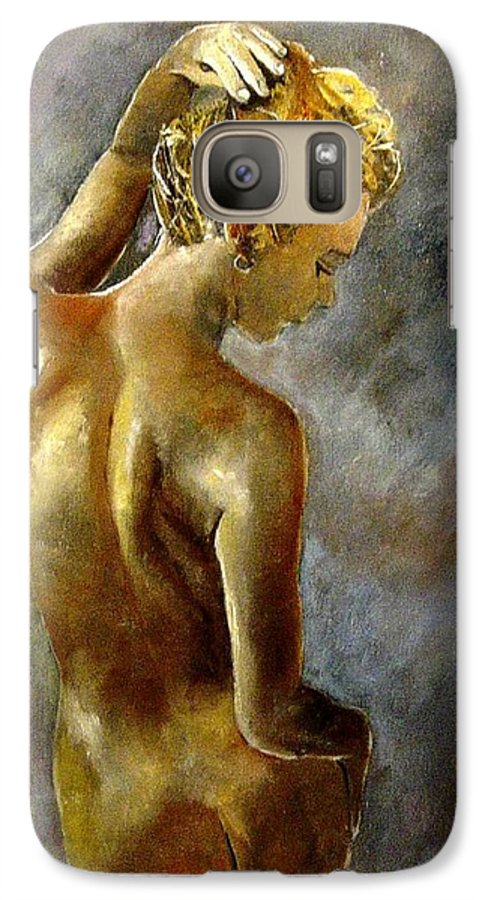 Girl Nude Galaxy S7 Case featuring the painting Nude 27 by Pol Ledent