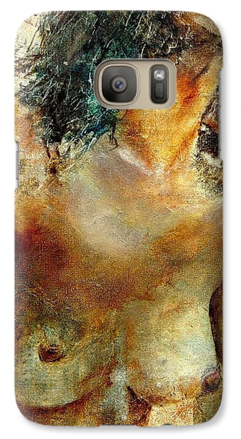 Girl Nude Galaxy S7 Case featuring the painting Nude 34 by Pol Ledent