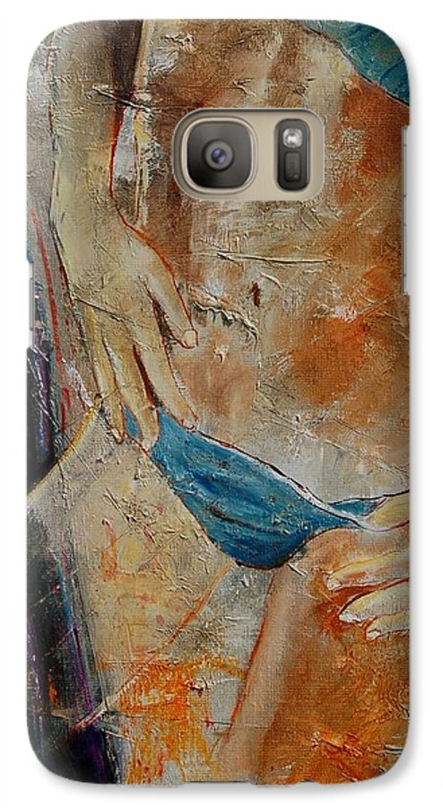 Girl Nude Galaxy S7 Case featuring the painting Nude 450608 by Pol Ledent