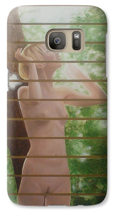 Realistic Galaxy S7 Case featuring the painting Nude Forest by Angel Ortiz