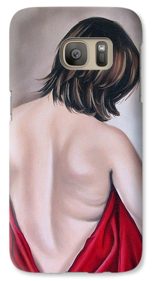 Nude Galaxy S7 Case featuring the painting Nude Hundred And One Of Seven by Ilse Kleyn