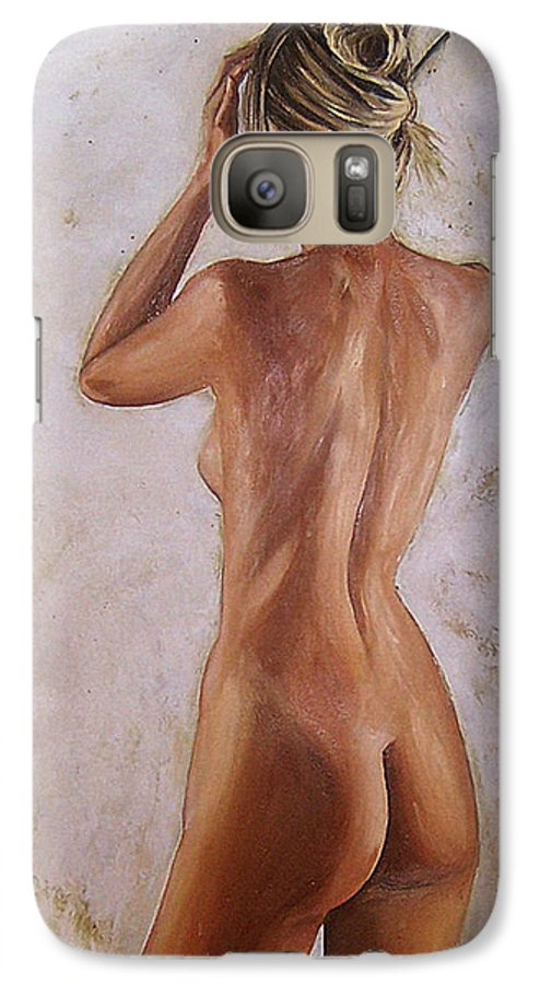 Nude Galaxy S7 Case featuring the painting Nude by Natalia Tejera