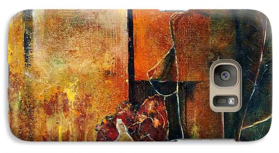 Woman Girl Fashion Nude Galaxy S7 Case featuring the painting Nude by Pol Ledent
