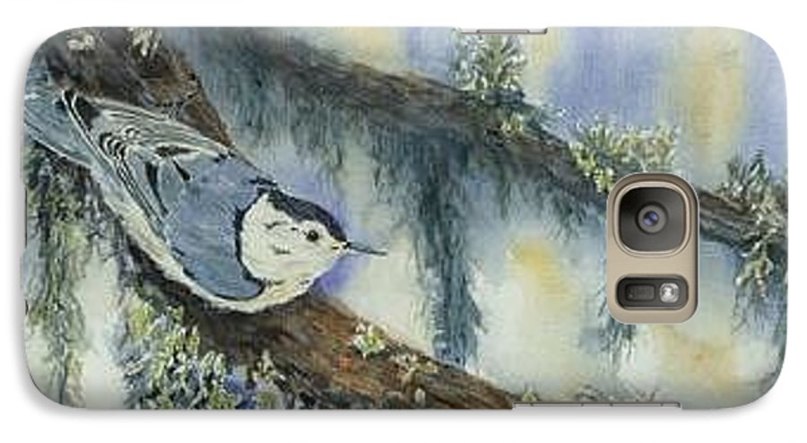 Nuthatch Galaxy S7 Case featuring the painting Nuthatch by Dolores Fegan