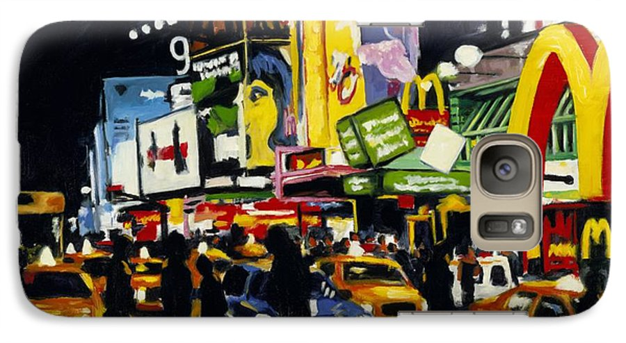 New York Galaxy S7 Case featuring the painting Nyc II The Temple Of M by Robert Reeves