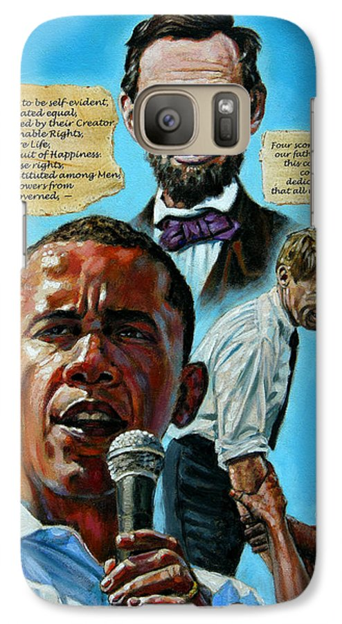 Obama Galaxy S7 Case featuring the painting Obamas Heritage by John Lautermilch