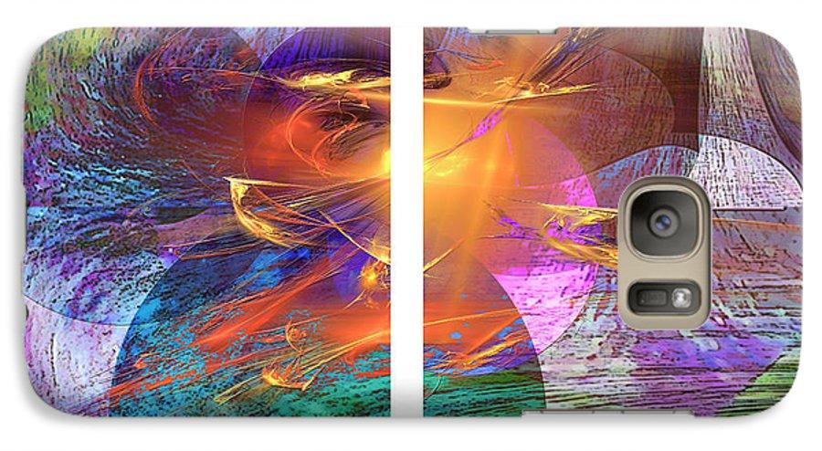 Ocean Fire Galaxy S7 Case featuring the digital art Ocean Fire by John Beck