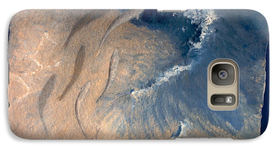 Seascape Galaxy S7 Case featuring the painting Ocean by Steve Karol