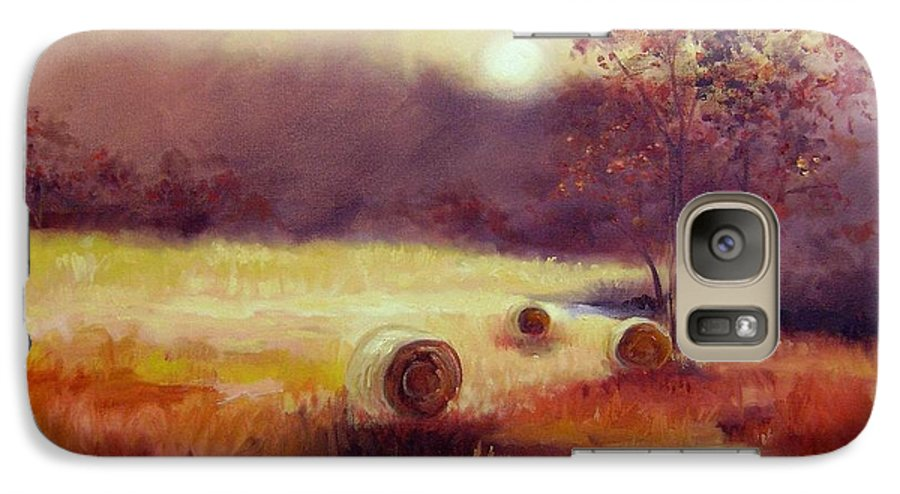 Fall Landscapes Galaxy S7 Case featuring the painting October Pasture by Ginger Concepcion