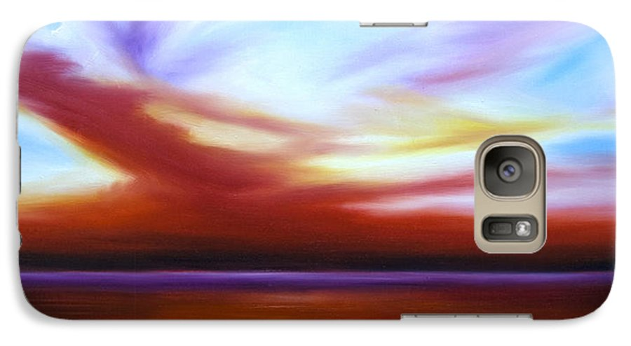 Skyscape Galaxy S7 Case featuring the painting October Sky IIi by James Christopher Hill