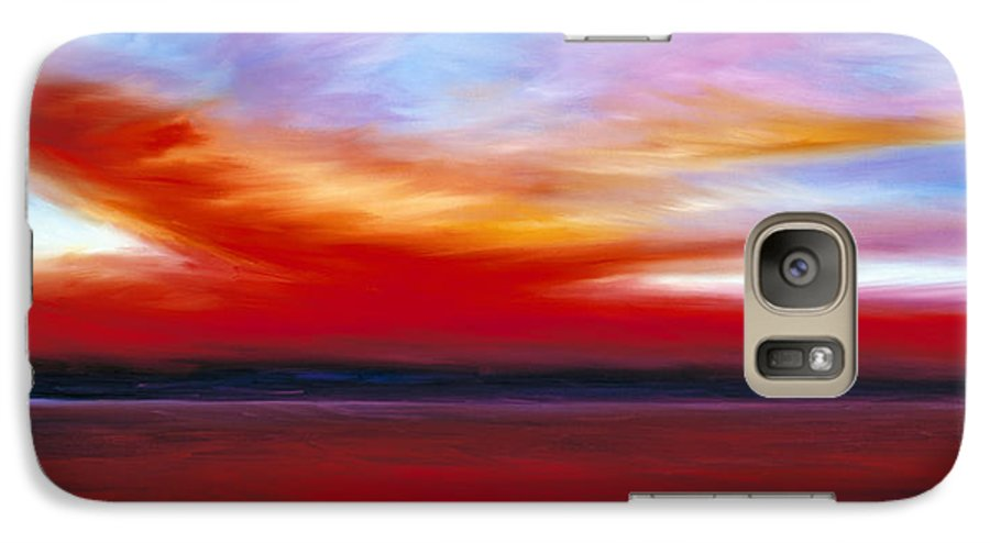 Clouds Galaxy S7 Case featuring the painting October Sky by James Christopher Hill