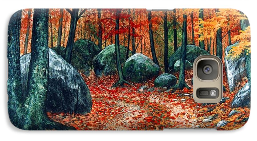 Landscape Galaxy S7 Case featuring the painting October Woodland by Frank Wilson